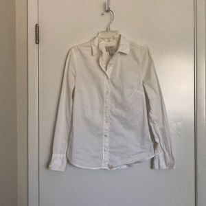 White Formal Button Up Blouse